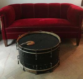 alte, antike Pauke Trommel - Beistelltisch XL schwarz