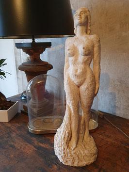 alte Steinfigur Küstlerfigur Statuette Frauenakt Nr 2512gi
