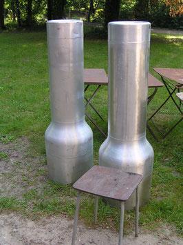 sehr große Alu Säulen Schornsteine Abzug für Räucherofen?