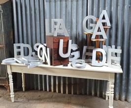 alte Buchstaben Werbebuchstaben silber Nr 0203-03