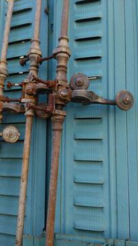 antike Fenster- Terrassentür Verriegelung Schließe 2302-01