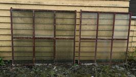 alte Eisenfenster mit Drahtglas Nr 2006