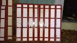 alte Holz Fensterläden für Terrassentür 165 x 140 h
