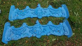 große alte Fiberglas Giesform wie Stuck blau Nr 2910-03