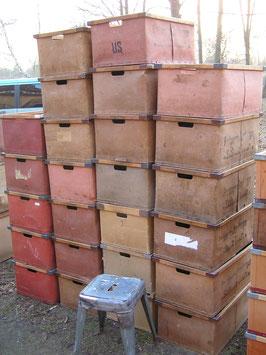 alte Stapelboxen aus Vulkanfiber Vintage 2106-01