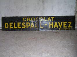 3 m langes Emaille Schild 2-teilig Werbeschild Chocolat