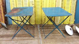 alter Gartentisch Klapptisch blau 78 x 60 cm