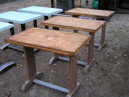 3er Set alte 50er Jahre Tischgestelle für Bistrotische