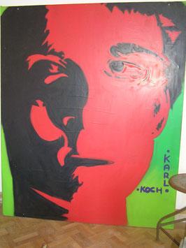 altes riesiges Bild Acryl auf Keilrahmen Leinwand