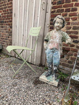 Sehr alte antike Gartenfigur Steinfigur kleiner Lord Barock