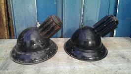 alter Emaille Wandlampen Schirm Factory Lamp