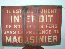 Altes Schild mit Patina Nr 0806-01