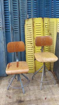 alte BAO Arbeitsstühle aus Frankreich