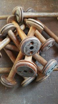 antike sehr lange Garnrolle aus Textilfabrik Hutständer Nr 2911