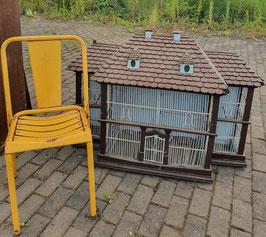 alter antiker Käfig Voliere Vogelkäfig Vogelbauer Handarbeit XL NR 2607