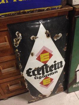 altes Werbeschild Emaillschild Eckstein Zigaretten