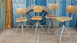 Vintage Arbeitsstühle der Marke Bao aus Frankreich