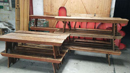 sehr schöne alte Holzbänke antike Holzbank Biergartenbank 180cm