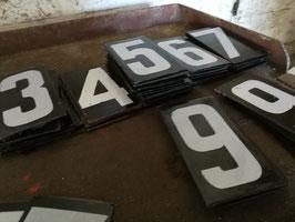 alte Emaille Nummern Hausnummern Zimmernummern 1110-10