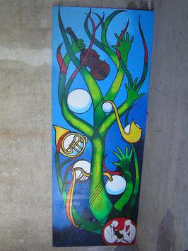 XXL Gemälde Acryl auf Leinwand Nr 2401-01