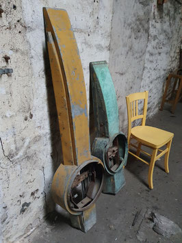 1 Paar alte historische Turmuhrzeiger XXL Nr 1307