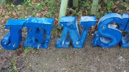 alte Buchstaben blau 36 cm 0612-02rest