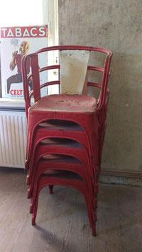 seltene Tolix Sessel Stühle Metall Stapelstuhl