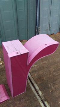 Vintage Buchstaben in Pink geschwungen 2812-02rest
