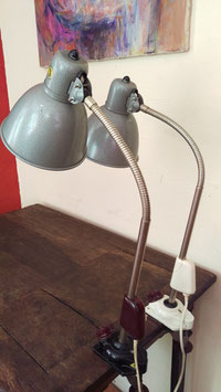 Vintage Arbeitsleuchte mit Tischbefestigung Nr 0509-02