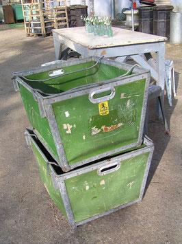 alter XXL Transportbehälter aus Textilfabrik von Suroy France Nr 0412