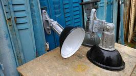 SUPERSCHÖNE alte Straßenlaterne Wandlampe Emaille klein 1203-02