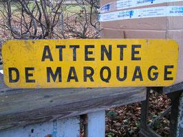 Schild aus Frankreich