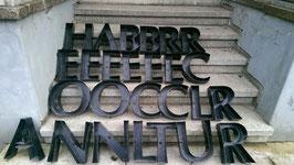 alte Buchstaben schwarz Nr 6rest
