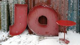 JO oder Ja aus alte Vintage Buchstaben - Nr 2802-04