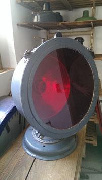 großer alter russischer Schweinwerfer rot Tischlampe VINTAGE nr 2812