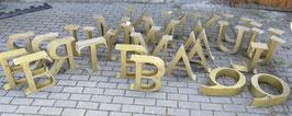 alte Werbebuchstaben mit toller Typo Nr 2305gold
