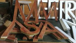 alte Vintage Buchstaben aus Blech rost Nr 2711-02