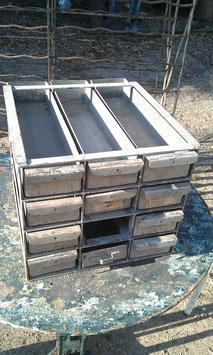 alter Sortierkasten Werkstattkasten Schubladen aus Metall Stifteablagen NR 2912
