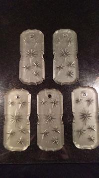 Posten 5 alter Glashänger für Kristalllüster