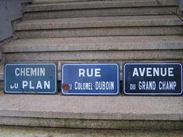 französische Straßenschilder