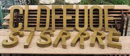 wundervolle goldige alte Buchstaben Nr 1309-03