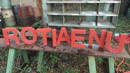 alte Buchstaben Blech 25 cm rot 0612-04rest