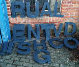 alte Buchstaben Blech anthrazit-schwarz Nr 0712