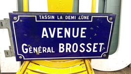 antikes Straßenschild Emailleschild doppeseitig