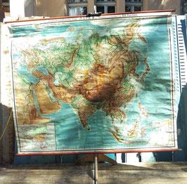 alte Weltkarte Asien von Gaebler Nr 6
