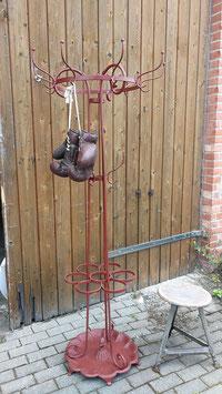 antike Standgarderobe aus Eisen rot Jugendstil  3006