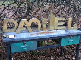 alte Messing Buchstaben 24 cm Nr 2811rest