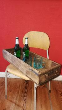 Tolle alte Schublade aus einer Werkstatt mit doppelseitigen Griffen TABLETT Nr 3108-02 restauriert