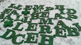 viele grüne Buchstaben 25 cm 2813rest