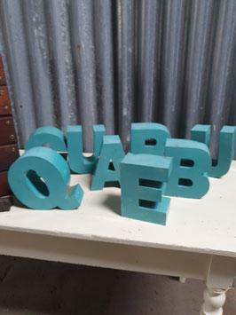 alte Buchstaben Werbebuchstaben türkis  Nr 0203-02